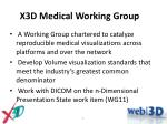x3d medical working group