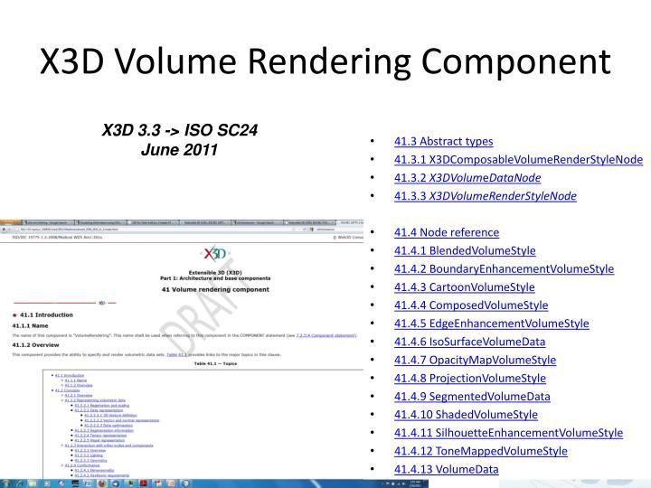 X3D Volume Rendering Component
