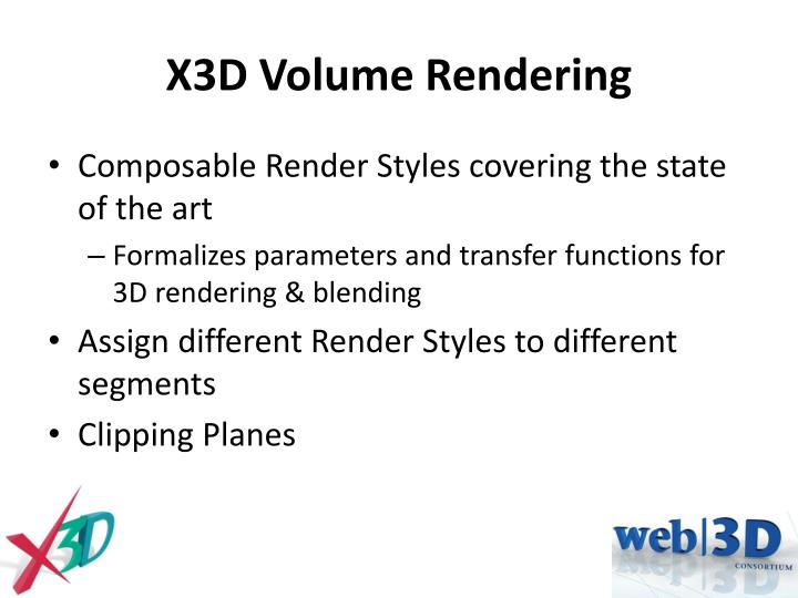 X3D Volume Rendering