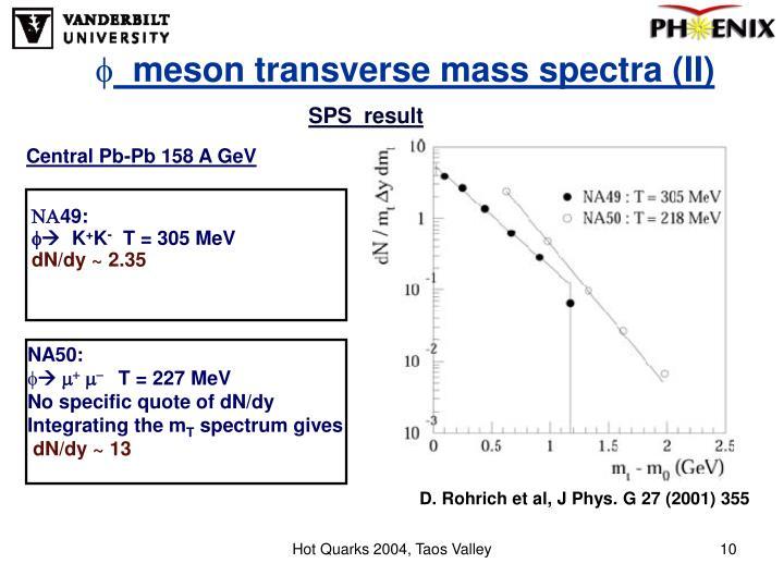 meson transverse mass spectra (II)