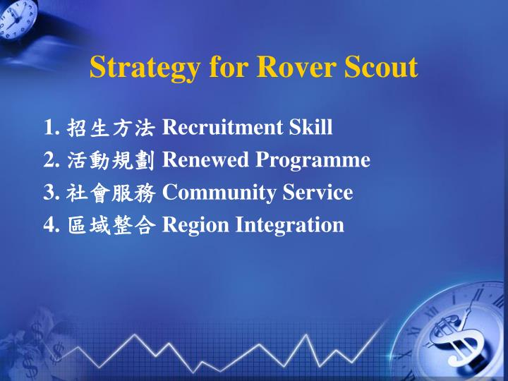 Strategy for rover scout1