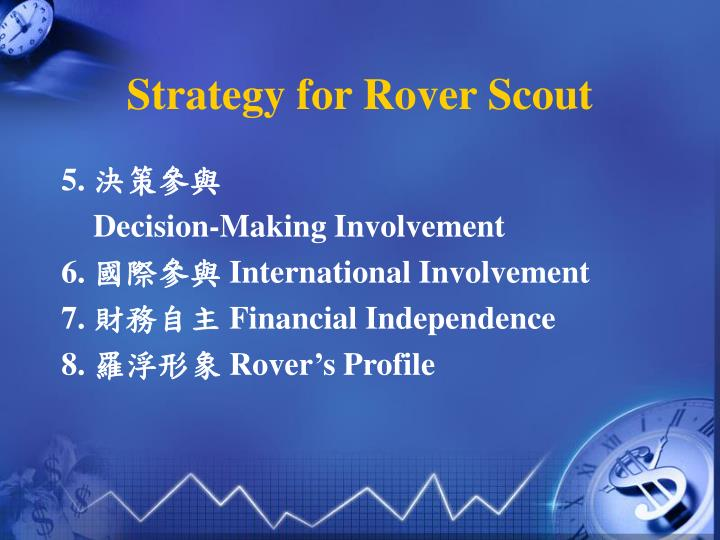 Strategy for rover scout2
