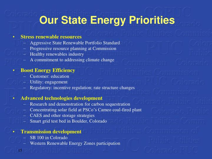 Our State Energy Priorities