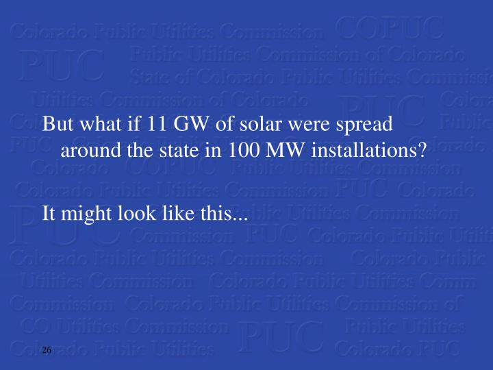 But what if 11 GW of solar were spread around the state in 100 MW installations?