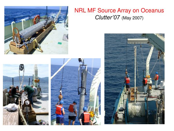 NRL MF Source Array on Oceanus