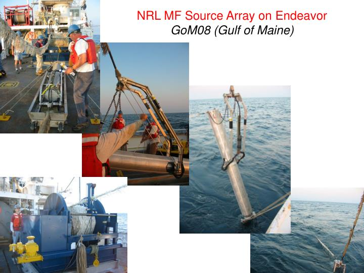 NRL MF Source Array on Endeavor