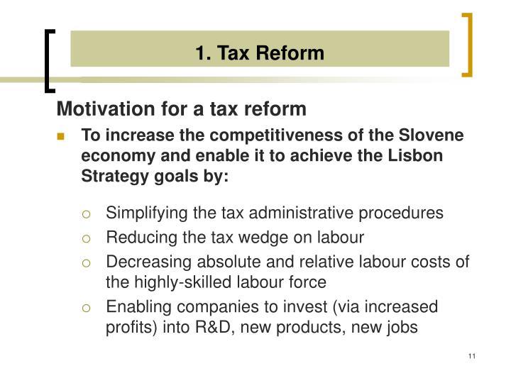 1. Tax Reform
