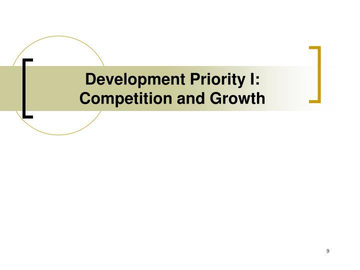 Development Priority I: