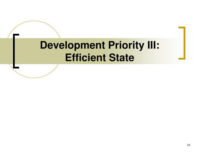 Development Priority III: