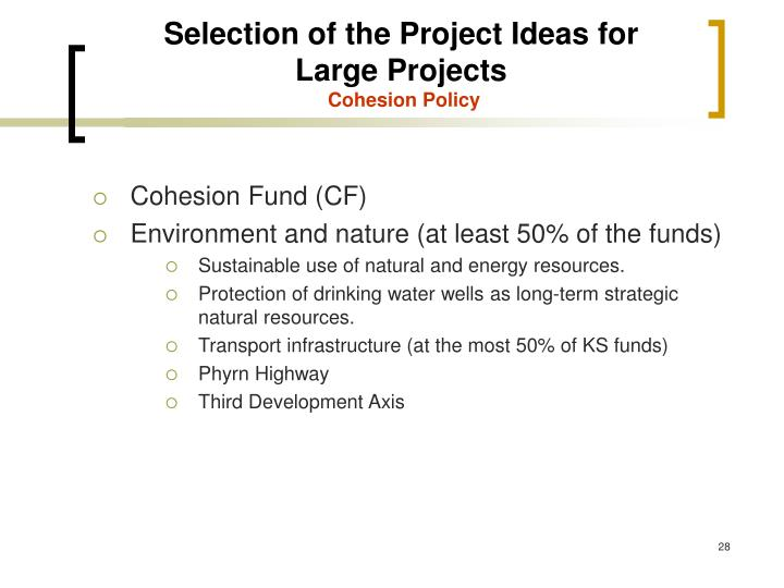 Selection of the Project Ideas for