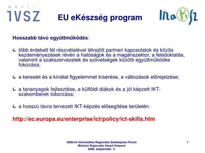 EU eKészség program