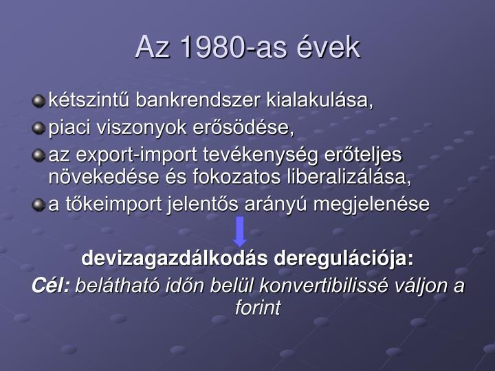 Az 1980-as vek