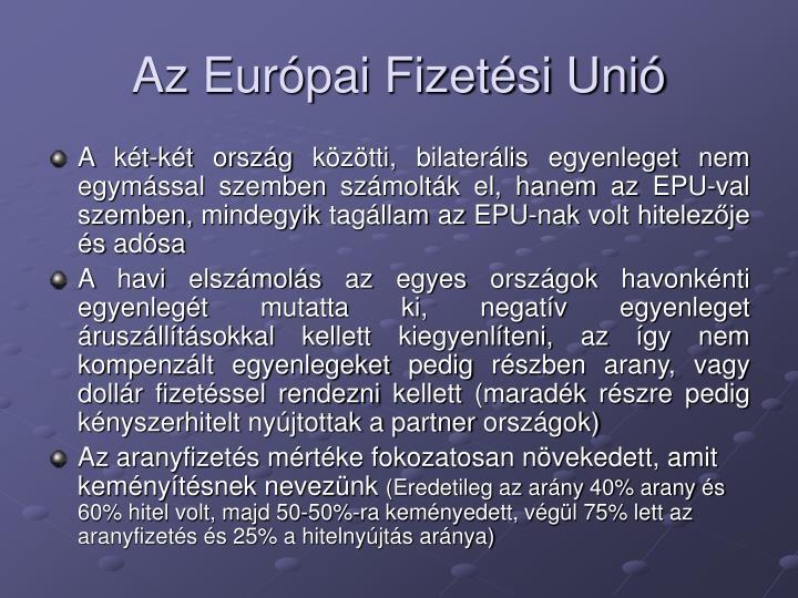 Az Eurpai Fizetsi Uni