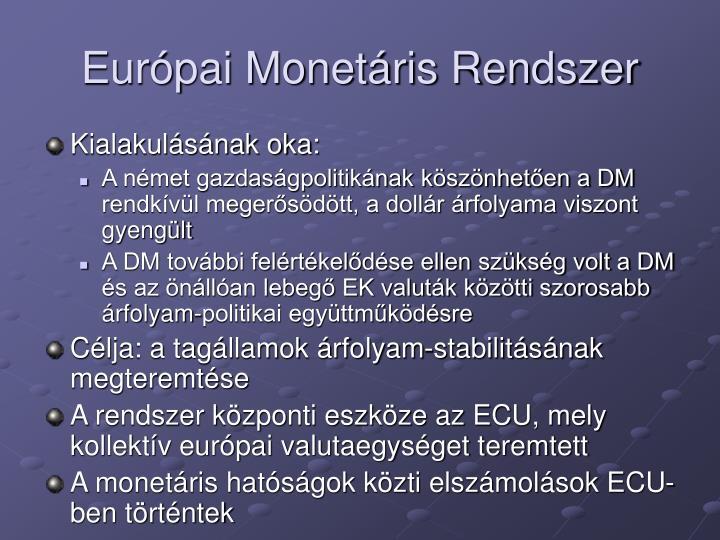 Eurpai Monetris Rendszer