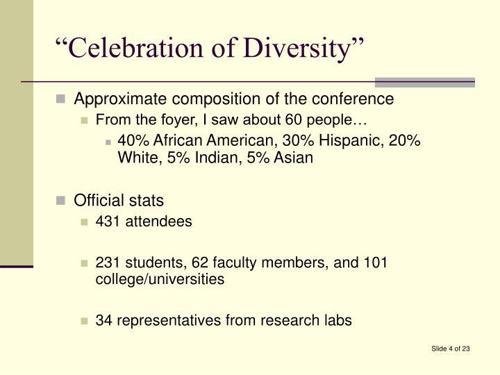 """""""Celebration of Diversity"""""""