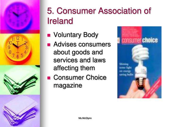 5. Consumer Association of Ireland