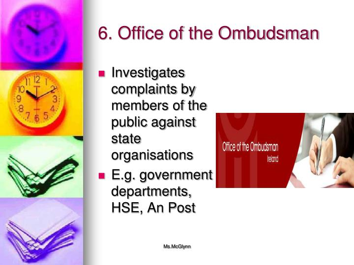 6. Office of the Ombudsman