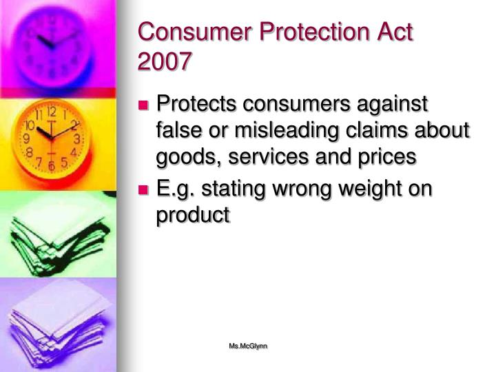 Consumer Protection Act 2007