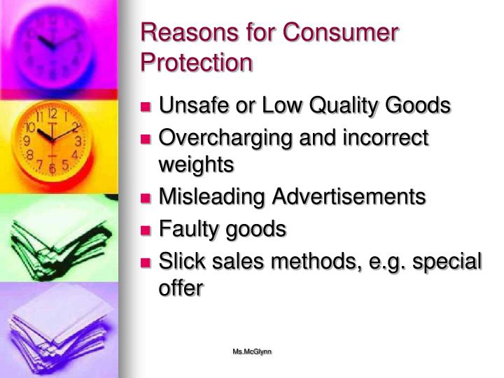 Reasons for Consumer Protection