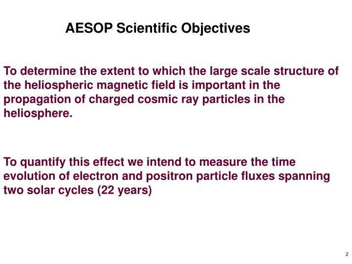 AESOP Scientific Objectives