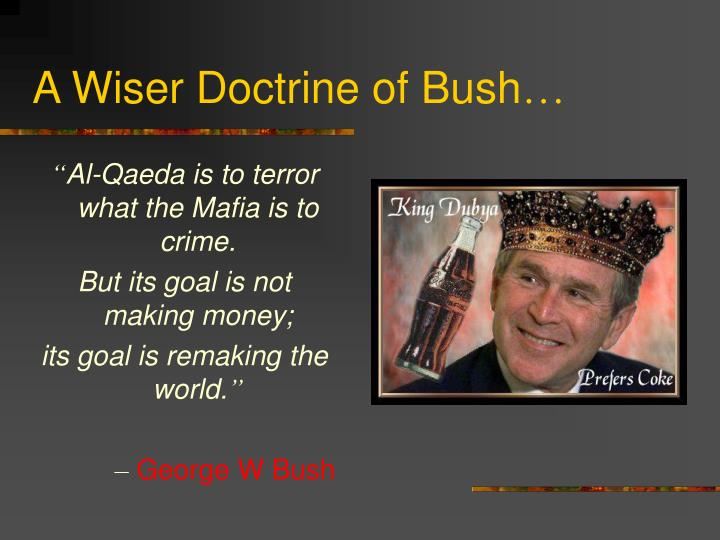 A Wiser Doctrine of Bush