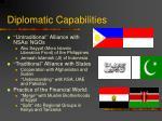 diplomatic capabilities