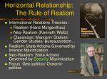 horizontal relationship the rule of realism