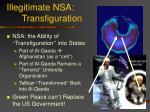illegitimate nsa transfiguration