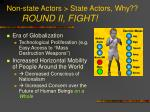 non state actors state actors why round ii fight