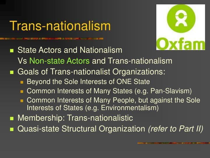 Trans-nationalism