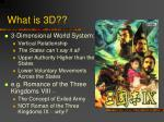 what is 3d