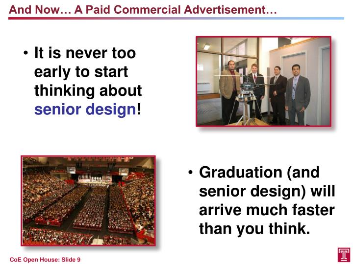 And Now… A Paid Commercial
