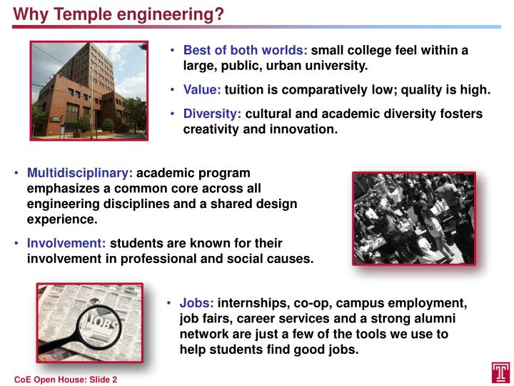 Why Temple engineering?
