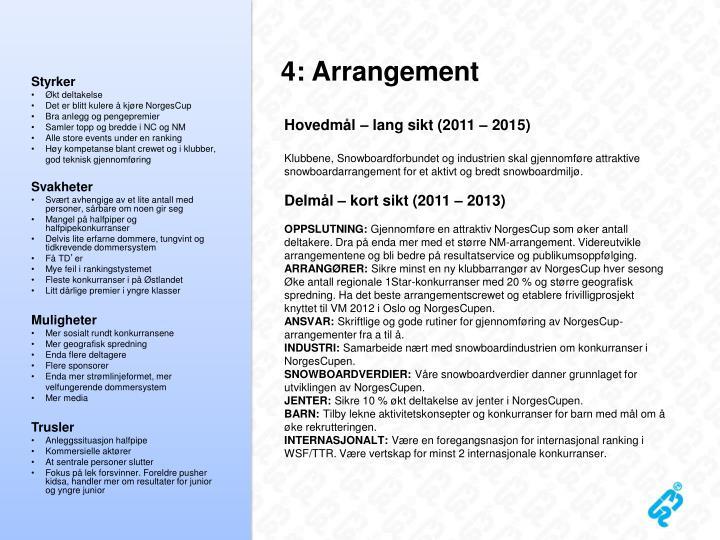 4: Arrangement