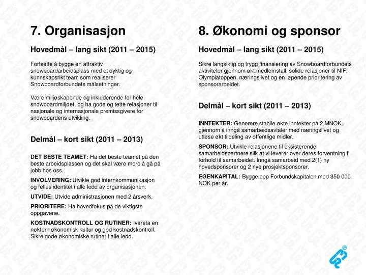 7. Organisasjon