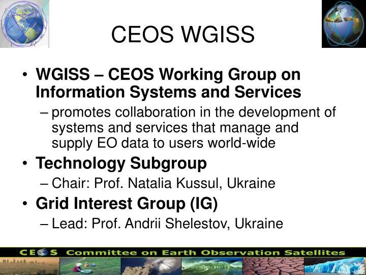 CEOS WGISS
