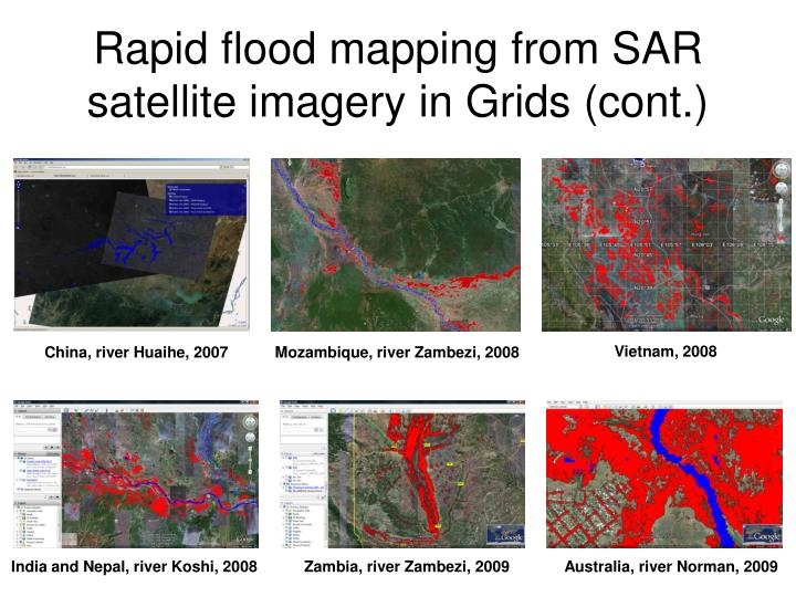 Rapid flood mapping from SAR satellite imagery in Grids (cont.)