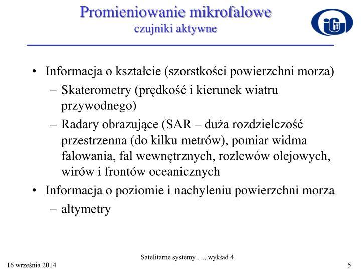 Promieniowanie mikrofalowe