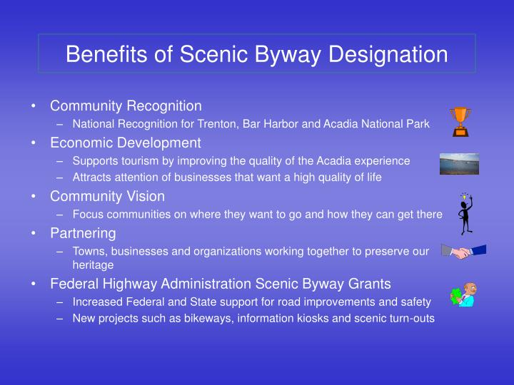 Benefits of Scenic Byway Designation