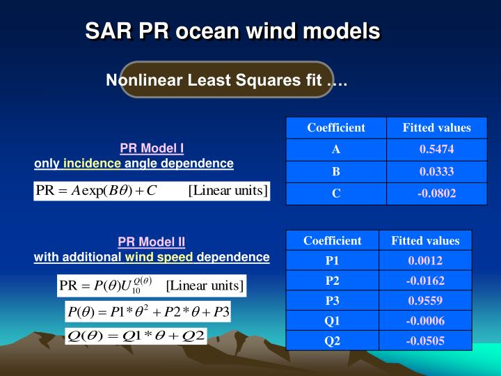 SAR PR ocean wind models