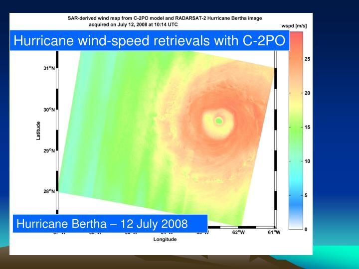 Hurricane wind-speed retrievals with C-2PO