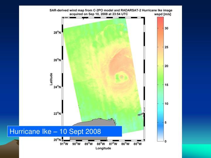Hurricane Ike – 10 Sept 2008