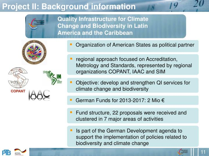 Project II: Background information