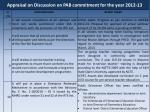 appraisal on discussion on pab commitment for the year 2012 132