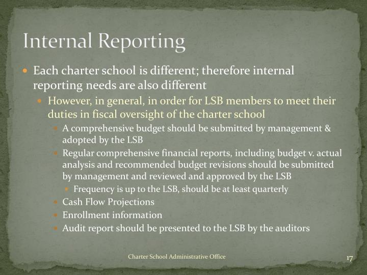 Internal Reporting