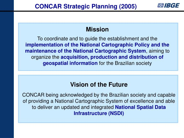CONCAR Strategic Planning (2005)