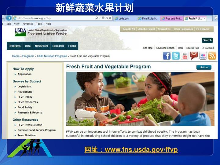 新鲜蔬菜水果计划