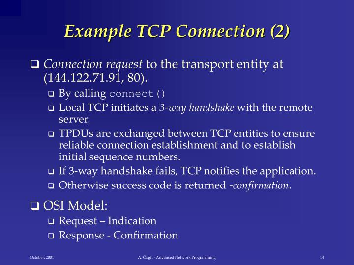 Example TCP Connection (2)