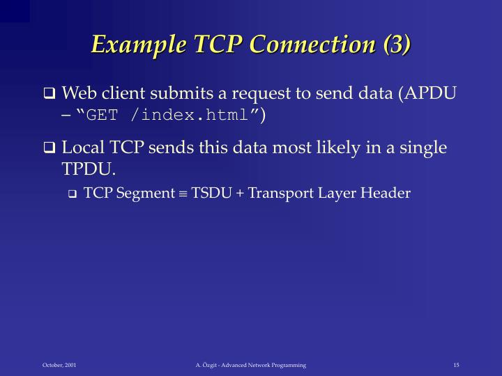 Example TCP Connection (3)