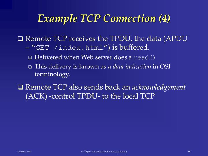 Example TCP Connection (4)